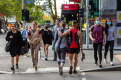 Despite heavy lockdown laws in Victoria, many people were on the streets in the CBD during COVID 19 on 19 April, 2020 in Melbourne, Australia. (Photo by Speed Media/Icon Sportswire)